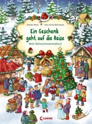 Ein Geschenk geht auf die Reise - Mein Weihnachswimmelbuch