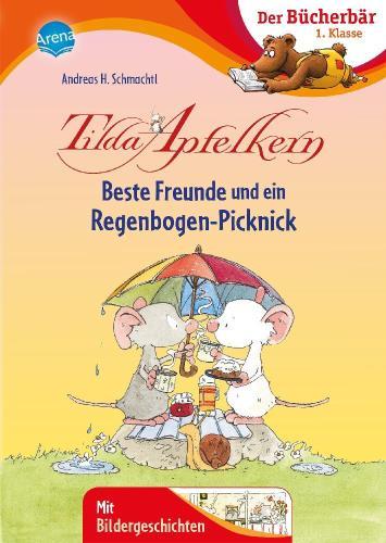 Beste Freunde und ein Regenbogen-Picknick