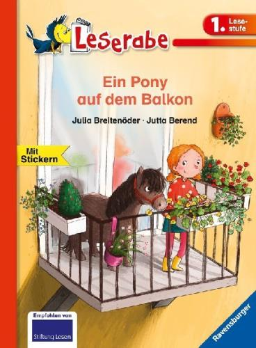 Ein Pony auf dem Balkon