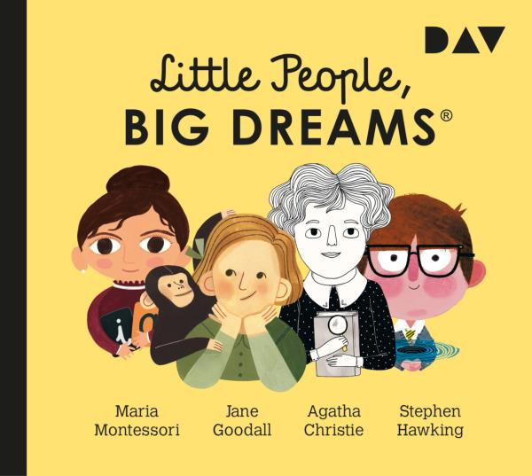 Maria Montessori, Jane Goodall, Agatha Christie, Stephen Hawking